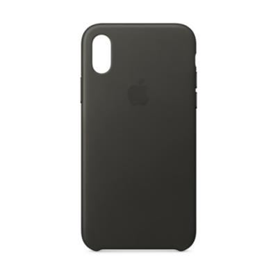 Apple iPhone X Leather Case  Charcoal Gray price in hyderabad, telangana